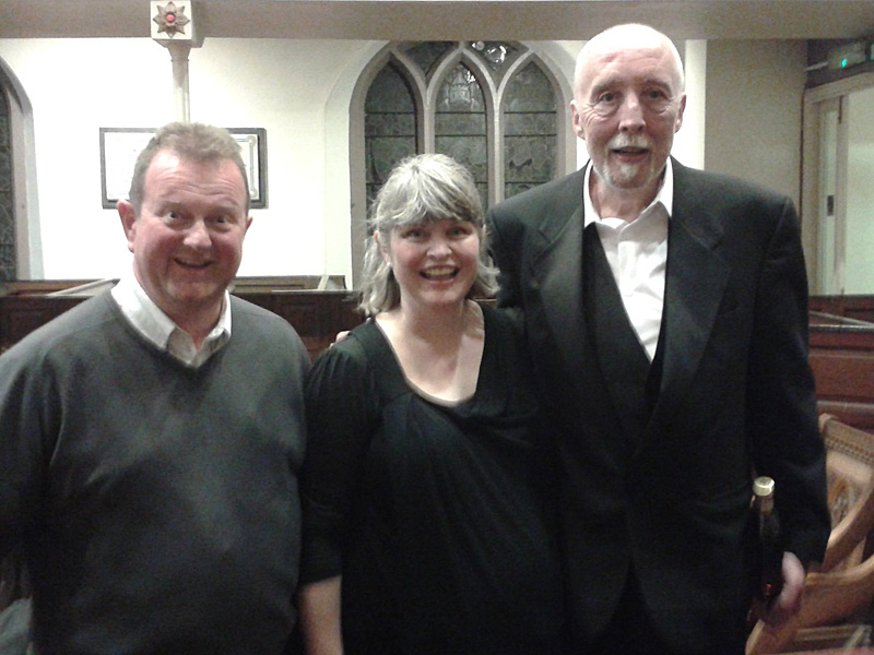 From left: Simon Mercer, Lindy Tennent-Brown, Roger Briscoe